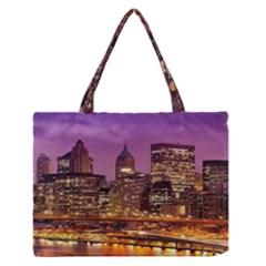 City Night Medium Zipper Tote Bag