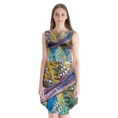 Circuit Computer Sleeveless Chiffon Dress