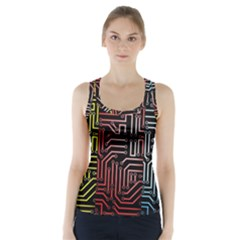 Circuit Board Seamless Patterns Set Racer Back Sports Top