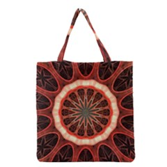 Circle Pattern Grocery Tote Bag