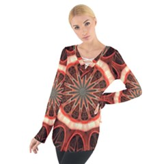Circle Pattern Women s Tie Up Tee