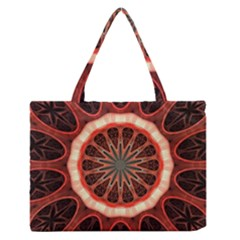 Circle Pattern Medium Zipper Tote Bag