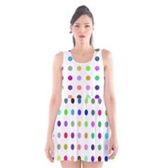 Circle Pattern  Scoop Neck Skater Dress