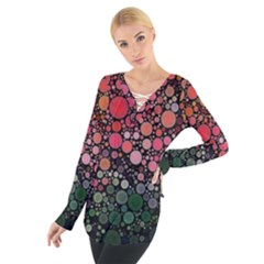 Circle Abstract Women s Tie Up Tee