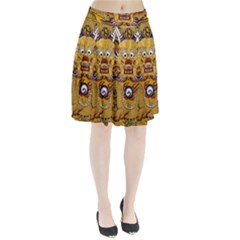 Chinese Dragon Pattern Pleated Skirt