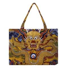 Chinese Dragon Pattern Medium Tote Bag