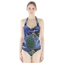 Chihuly Garden Bumble Halter Swimsuit