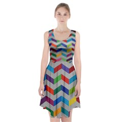 Charming Chevrons Quilt Racerback Midi Dress