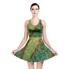 Chameleon Skin Texture Reversible Skater Dress