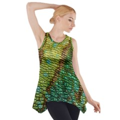 Chameleon Skin Texture Side Drop Tank Tunic
