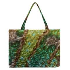 Chameleon Skin Texture Medium Zipper Tote Bag