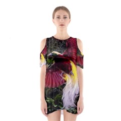 Cendrawasih Beautiful Bird Of Paradise Cutout Shoulder Dress