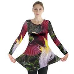 Cendrawasih Beautiful Bird Of Paradise Long Sleeve Tunic