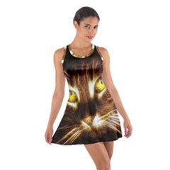 Cat Face Cotton Racerback Dress