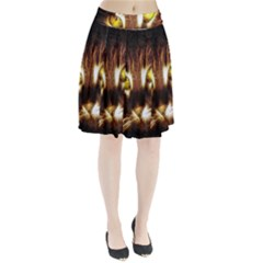 Cat Face Pleated Skirt