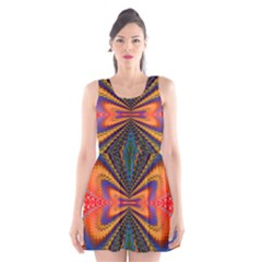 Casanova Abstract Art Colors Cool Druffix Flower Freaky Trippy Scoop Neck Skater Dress