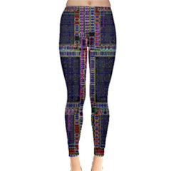 Cad Technology Circuit Board Layout Pattern Leggings
