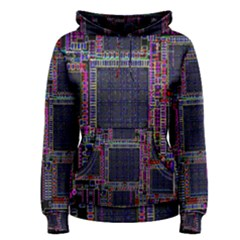 Cad Technology Circuit Board Layout Pattern Women s Pullover Hoodie