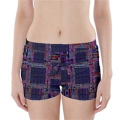 Cad Technology Circuit Board Layout Pattern Boyleg Bikini Wrap Bottoms