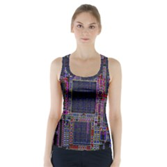 Cad Technology Circuit Board Layout Pattern Racer Back Sports Top