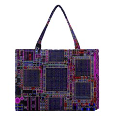Cad Technology Circuit Board Layout Pattern Medium Tote Bag