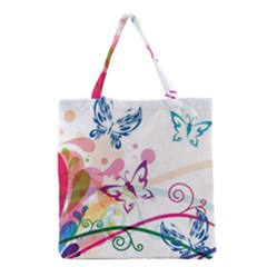 Butterfly Vector Art Grocery Tote Bag