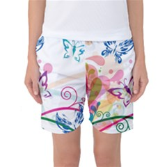 Butterfly Vector Art Women s Basketball Shorts