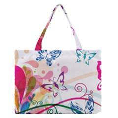 Butterfly Vector Art Medium Zipper Tote Bag