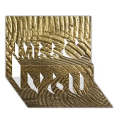 Brushed Gold Miss You 3D Greeting Card (7x5)