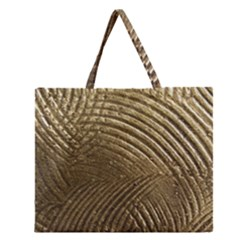 Brushed Gold Zipper Large Tote Bag