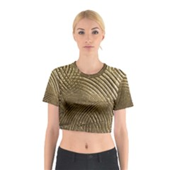 Brushed Gold Cotton Crop Top