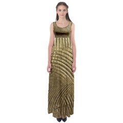 Brushed Gold Empire Waist Maxi Dress