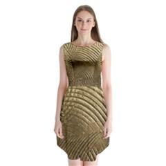 Brushed Gold Sleeveless Chiffon Dress