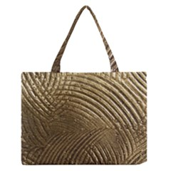 Brushed Gold Medium Zipper Tote Bag