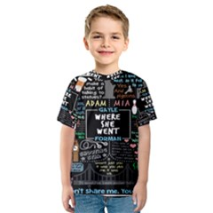 Book Quote Collage Kids  Sport Mesh Tee