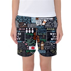 Book Quote Collage Women s Basketball Shorts
