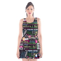 Book Collage For Before I Fall Scoop Neck Skater Dress