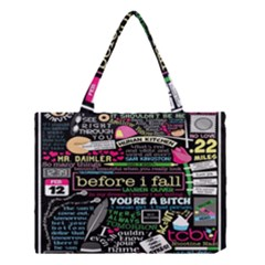 Book Collage For Before I Fall Medium Tote Bag