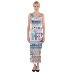 Book Collage Based On Confess Fitted Maxi Dress