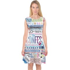 Book Collage Based On Confess Capsleeve Midi Dress