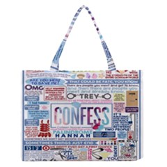 Book Collage Based On Confess Medium Zipper Tote Bag