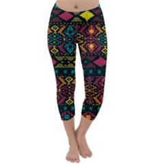 Bohemian Patterns Tribal Capri Winter Leggings