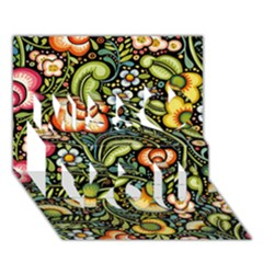 Bohemia Floral Pattern Miss You 3D Greeting Card (7x5)