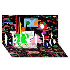 Colorful facroty BEST BRO 3D Greeting Card (8x4)