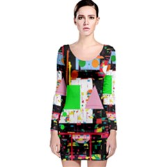 Colorful facroty Long Sleeve Bodycon Dress