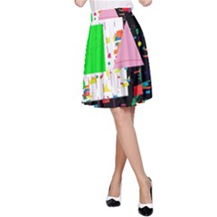 Colorful facroty A-Line Skirt