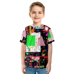 Colorful facroty Kids  Sport Mesh Tee