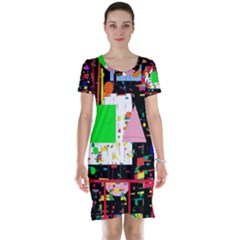 Colorful facroty Short Sleeve Nightdress
