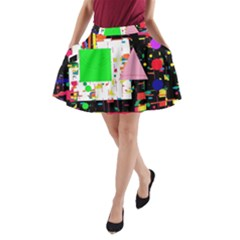 Colorful Facroty A Line Pocket Skirt
