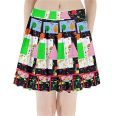 Colorful Facroty Pleated Mini Skirt